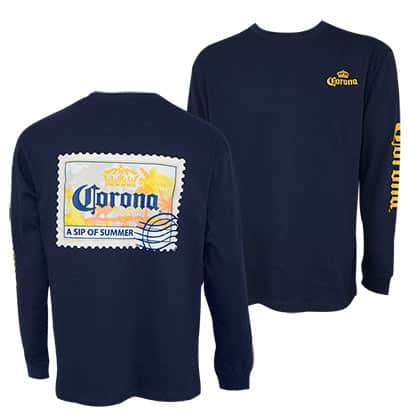 Corona Postcard Relax Responsibly Long Sleeve Shirt