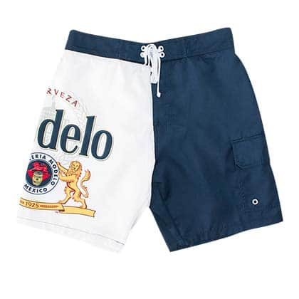 Modelo Blue & White Split Board Shorts